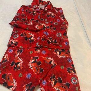 Disney cars lighting McQueen 2 pc set pajamas